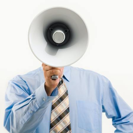 Man With Megaphone - Invisibly Allergic